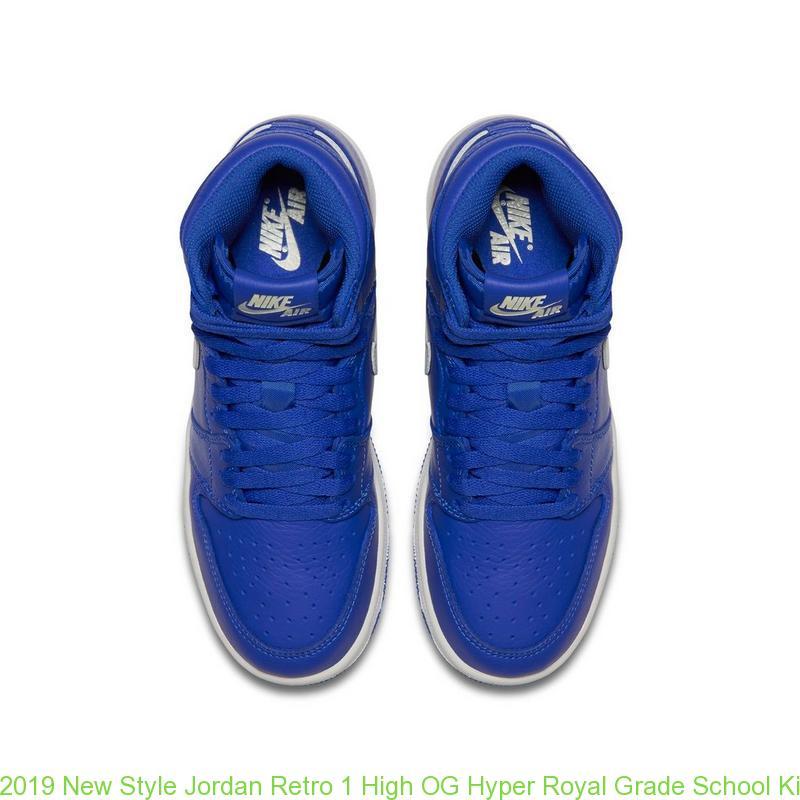 sneakers for cheap 1bd1c 88b00 2019 New Style Jordan Retro 1 High OG Hyper Royal Grade School Kids Shoe -  cheap jordans size 4 - R0240