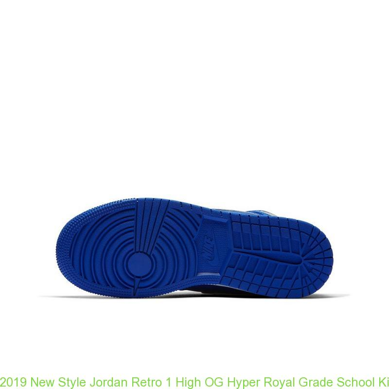 sneakers for cheap c605f e6363 2019 New Style Jordan Retro 1 High OG Hyper Royal Grade School Kids Shoe -  cheap jordans size 4 - R0240