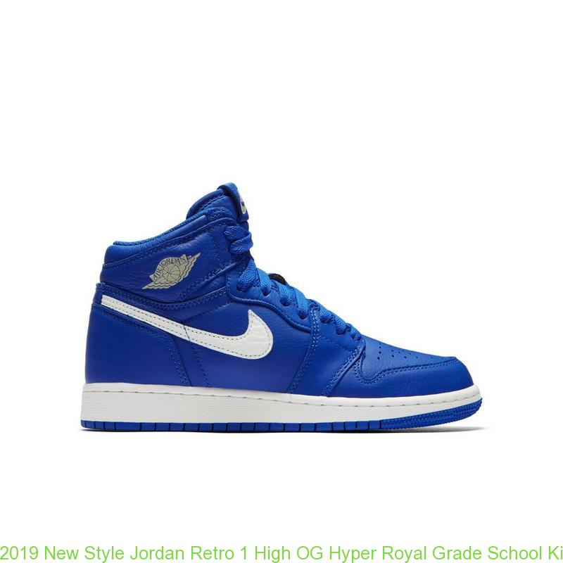 quality design 663ed 14161 2019 New Style Jordan Retro 1 High OG Hyper Royal Grade School Kids Shoe – cheap  jordans ...
