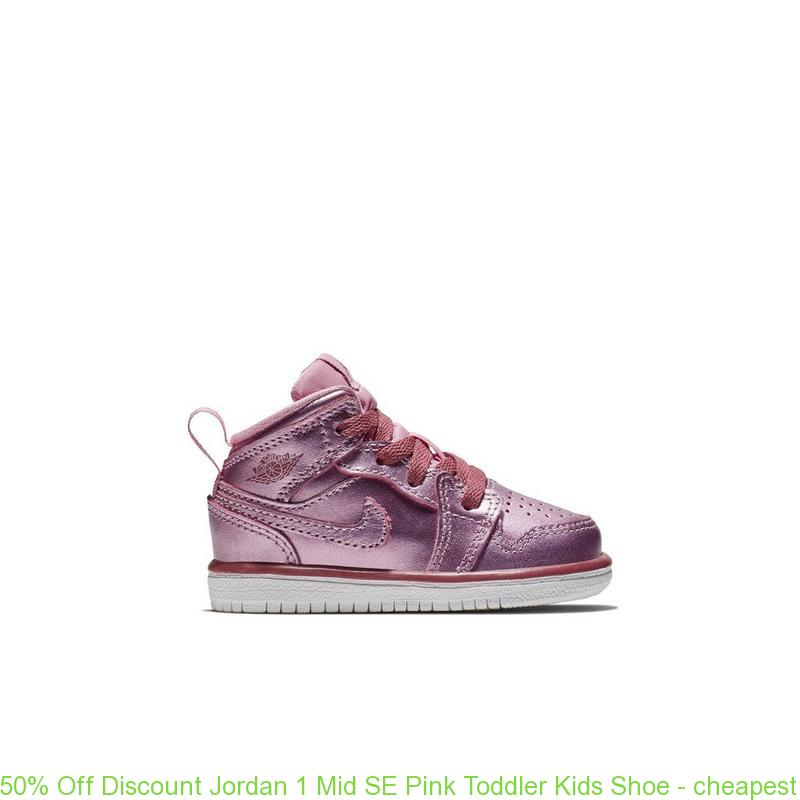 best authentic 1371a f7df1 50% Off Discount Jordan 1 Mid SE Pink Toddler Kids Shoe - cheapest nike air  max shoes online - S0388