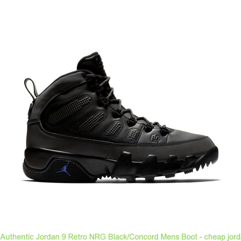 cheapest price reduced outlet boutique Authentic Jordan 9 Retro NRG Black/Concord Mens Boot – cheap ...