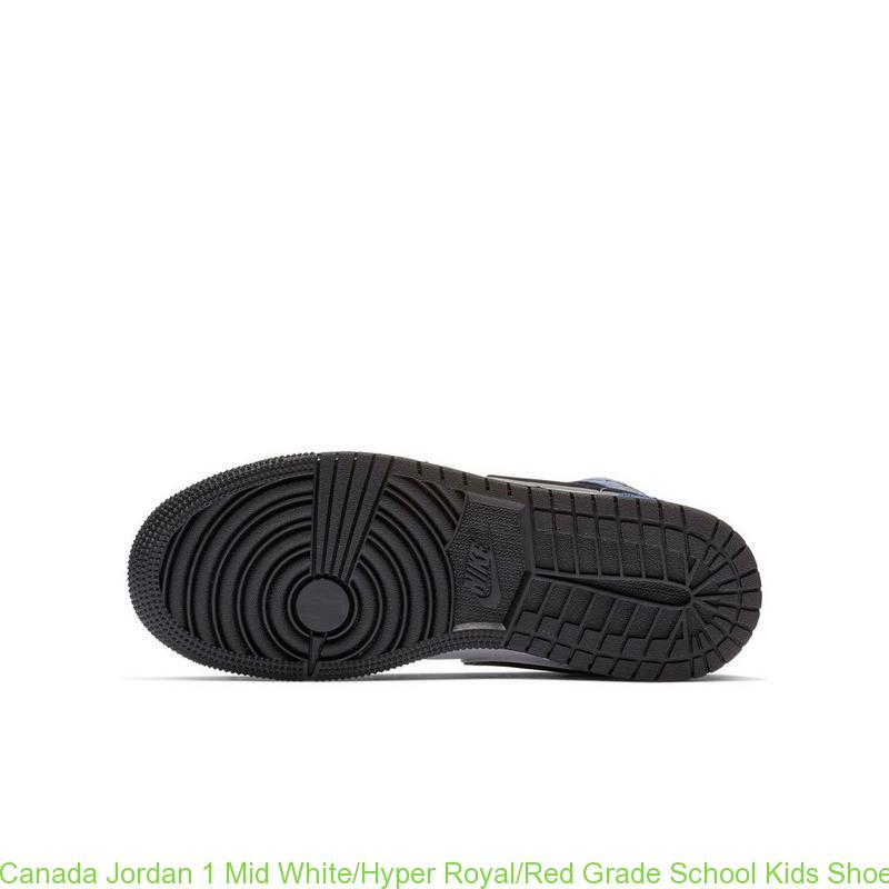 wholesale dealer 086ee 0cf52 Canada Jordan 1 Mid White/Hyper Royal/Red Grade School Kids Shoe - cheap  jordans finish line - R0472