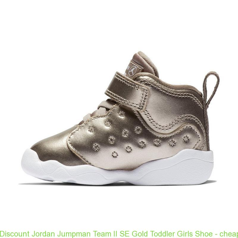 low priced 4a25b 60545 Discount Jordan Jumpman Team II SE Gold Toddler Girls Shoe - cheap nike  shoes size 13 - S0384