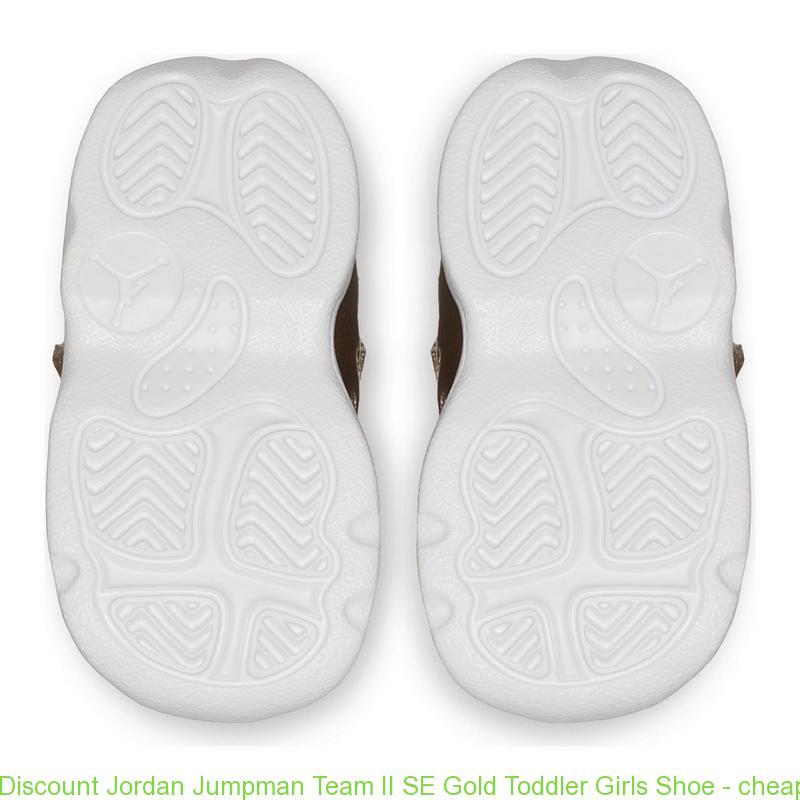 low priced 236c6 39a29 Discount Jordan Jumpman Team II SE Gold Toddler Girls Shoe - cheap nike  shoes size 13 - S0384