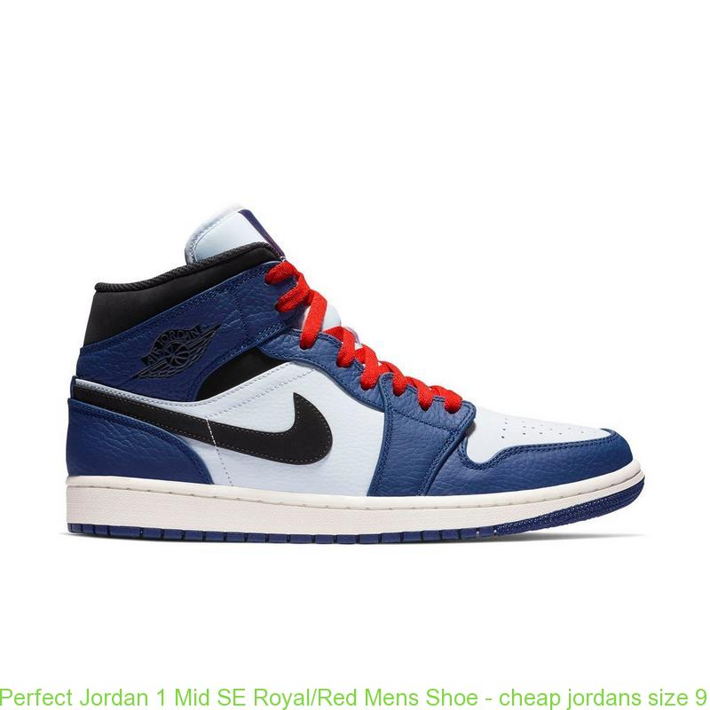 best sneakers 0db76 38c8b Perfect Jordan 1 Mid SE Royal/Red Mens Shoe - cheap jordans size 9 - Q0390