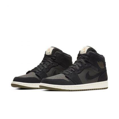 d7022131126 The Best Jordan 1 Mid Black/Olive Canvas Mens Shoe – cheap yeezys ...